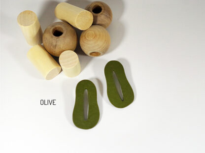 Creo Earrings - Olive