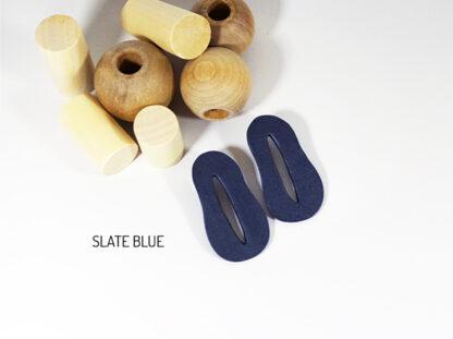 Creo Earrings - Slate Blue