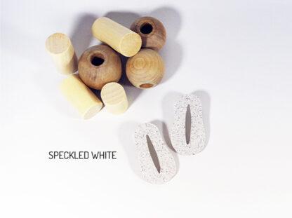 Creo Earrings - Speckled White
