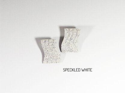 Fio Earrings - Speckled White