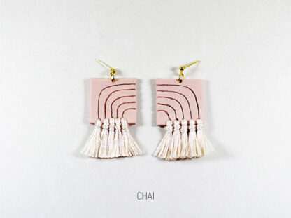 Lola Earrings - Chai