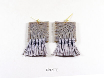 Lola Earrings - Granite