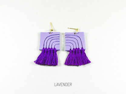 Lola Earrings - Lavender