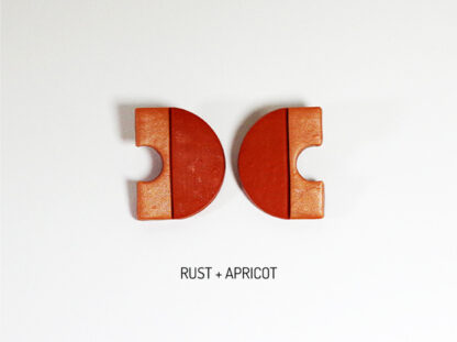 Minimus Earrings - Rust and Apricot