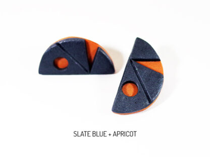 Pax Earrings - Slate Blue and Apricot