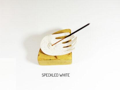 Sano Incense Holder - Speckled White