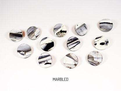 Virgo Moon Earrings - Marbled