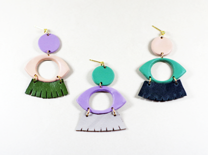 Dow earrings as a group