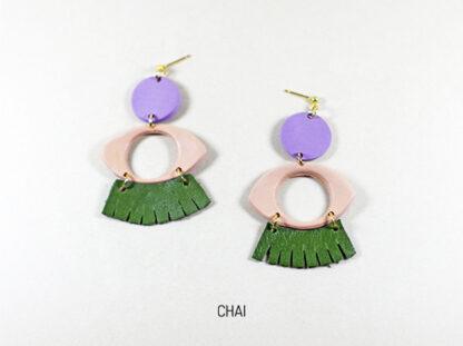 Dow earrings in Chai
