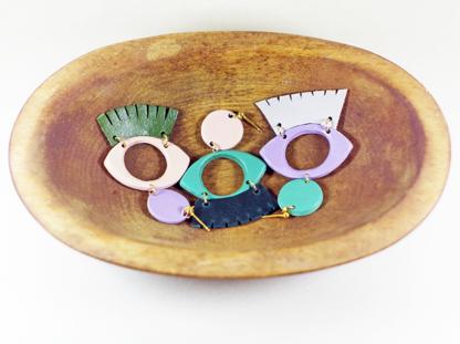 Dow earrings in a bowl