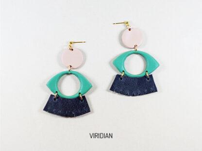 Dow earrings in viridian
