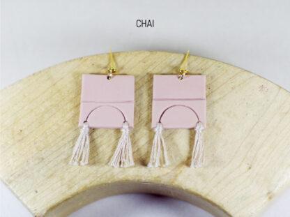 Iris Earrings Chai