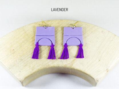 Iris Earrings Lavender