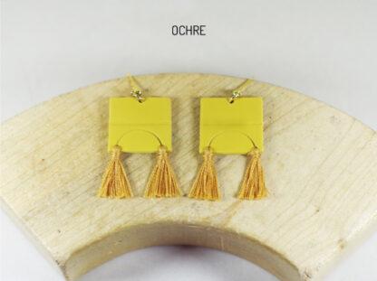 Iris Earrings Ochre