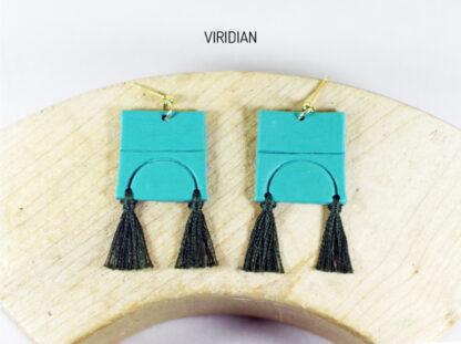 Iris Earrings Viridian