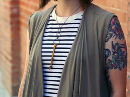 Boho Bolo Necklace worn