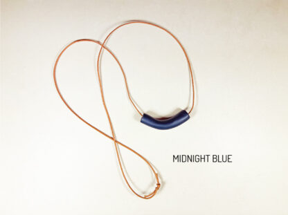 Tubular Necklaces in midnight blue