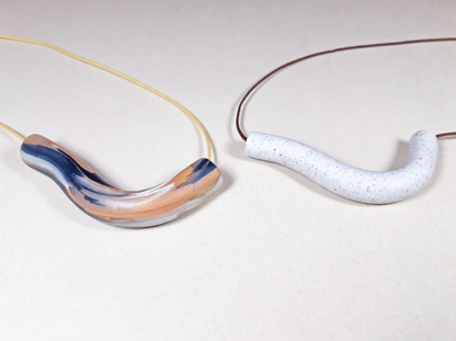 Wavering Necklaces close up