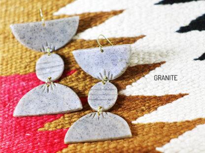 Totto Earrings in granite