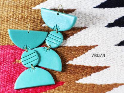 Totto Earrings in viridian