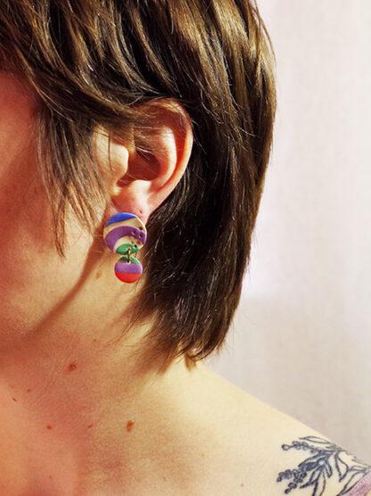 Evergreen Earrings - Circle Style in Ear