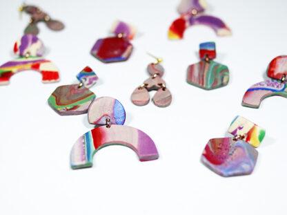 Marbled Haze Earrings - All Styles