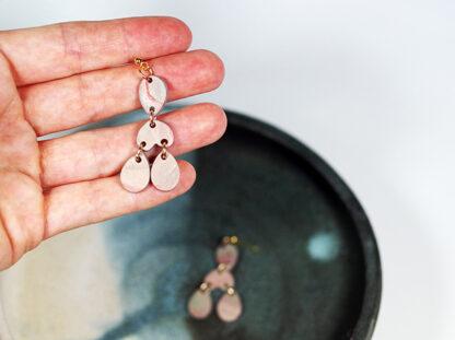 Marbled Haze Earrings - Teardrops in Hand