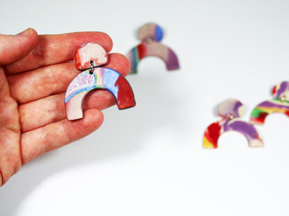 Marbled Haze Earrings - Arch in Hand