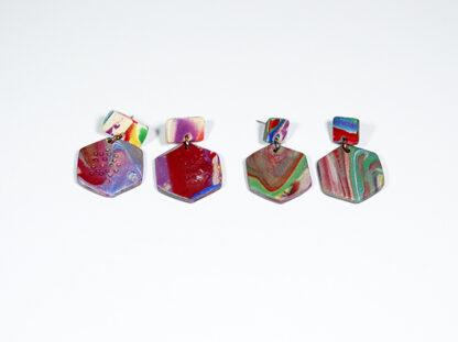 Marbled Haze Earrings - Hex Styles