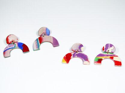 Marbled Haze Earrings - Arch Styles