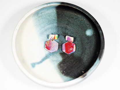 Marbled Haze Earrings - Hex on Display