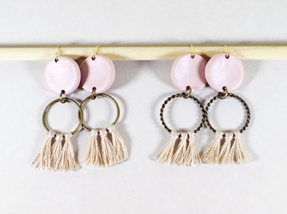 Angelique earrings in Chai small and big