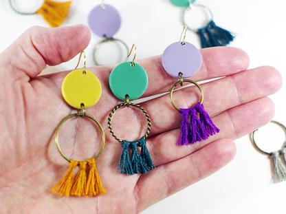Angelique earrings in hand