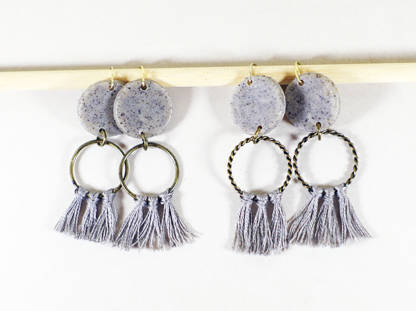 Angelique earrings in Granite small and big