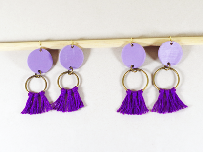 Angelique earrings in Lavender small and big