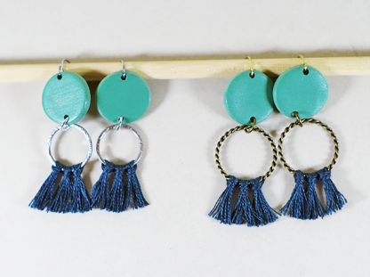 Angelique earrings in Viridian small and big