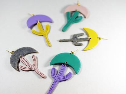 Calyxtus earrings in a group closeup