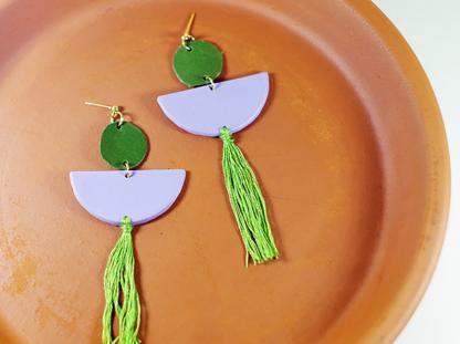 Elizabeth earrings in Lavender