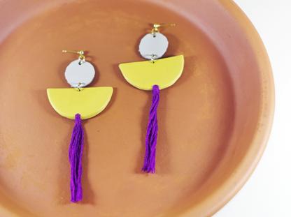 Elizabeth earrings in Ochre