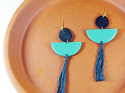 Elizabeth earrings in Viridian