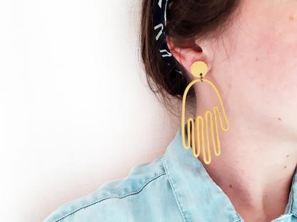 Matokie earrings in ear