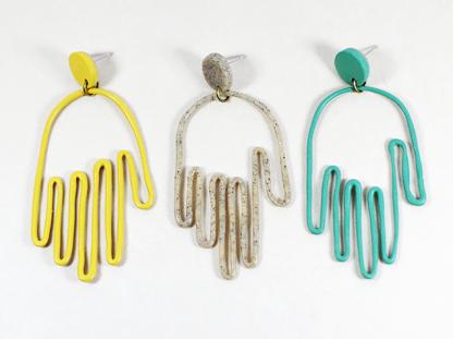Matokie earrings one of each color