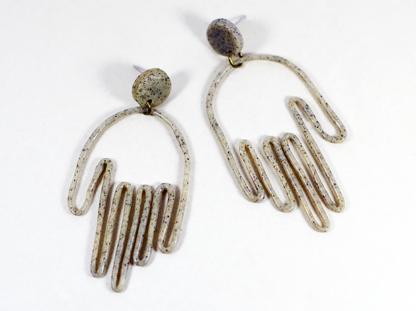 Matokie earrings in Granite