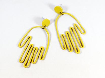 Matokie earrings in Ochre