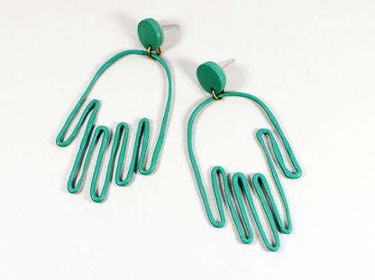 Matokie earrings in Viridian